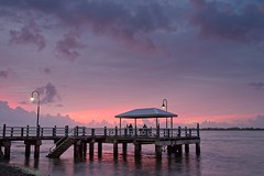 The colour appears (noompty) Tags: seascape shorescape jetty shornecliffe moretonbay cabbagetreecreek sunrise fishing people clouds pentax k1 zeiss zk carlzeiss distagont235 on1pics photoraw2018 2018 brisbane queensland