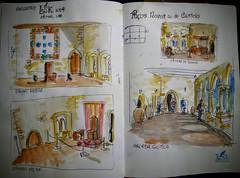 Interior dos Paços Novos ou do Castelo de Leiria - Portugal (JMADesigner) Tags: urbansketcher sketchs sketchcrawl urbansketchers motemorsketchers leiria