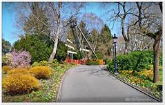Heide-Park im Frühling (Don111 Spangemacher) Tags: wege farbenfroh frühling freizeitpark garten himmel heidekreis pflanzen park vergnügungspark soltau heideparksoltau
