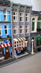 Bakery and Ballet Studio (morecitybricks) Tags: lego modular bakery ballet studio