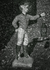 Jockey with Lantern (jauza1) Tags: bw blackandwhite noireblanc statue figurine d600