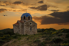 Little Chapel (dipphotos) Tags: chapel church greece sounio afternoon sunrise