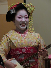 IMG_2353 (hattiebee) Tags: japan nara maiko kimono traditional shamisen instrument