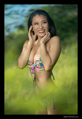 Candice (madmarv00) Tags: d600 nikon asian bikini girl hawaii kaiwishoreline kylenishiokacom model oahu outdoor woman bushes trees portrait smiling
