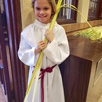 Violet Handing Out Palms On Palm Sunday thumbnail