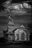 Old Victorian Style Church (Mike Schaffner) Tags: abandoned architecture bw blackwhite blackandwhite building canontse24mmf35lii chapel church clouds decay decayed derelict deserted dilapidated monochrome old ruins tiltshift victorian