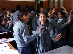 Amritsar - Schoolgirls (Christian Lagat) Tags: inde india punjab amritsar filles girls schoolgirls écolières école school classe uniforme uniform classroom