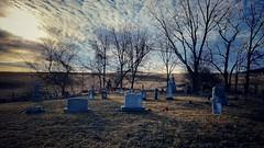 in the garden... (BillsExplorations) Tags: cemetery graveyard inthegarden caustinmiles hymn easter country rural sunset sky faith peace serenity loran illinois joeyrory heaven