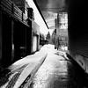 Ces traces si dures à faire partir... (woltarise) Tags: ruelle montréal plateau montroyal reflets neige traces iphone6s