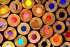 Colored Pencils (iecharleton) Tags: macromondays circles pencils pencil color art drawing wood texture round draw wooden macro closeup