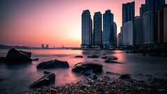 Dongbaek Park - Busan, South Korea - Seascape photography (Giuseppe Milo (www.pixael.com)) Tags: photo landscape nature southkorea buildings sea longexposure busan urban travel skyscapers photography architecture seascape city geotagged sky kr onsale