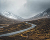 Unwind (raymond_carruthers) Tags: altnafeadh curve westhighlandway scotland a82 highlands glencoe road mountains moody snow scottish landscape clouds