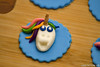 Hand-sculpted unicorn cupcake toppers (pointykittyorg) Tags: unicorn fondant gumpaste birthdaycupcakes
