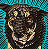 Bandit woodcut (Lisa Brawn) Tags: art alberta artist brawn calgary carving canadian canada canadiana design folkart graphics illustration lisabrawn popart painting reclaimed salvaged upcycled woodcut woodblock woodcarving woodcuts wood western dogs dog dogsinart