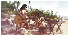 Beach Day (NatG loving the light) Tags: merak pocketgacha amitie nourish truth butter shinyshabby illuminate