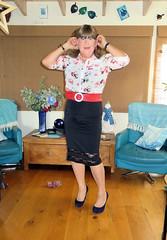 Pencil Skirt (Trixy Deans) Tags: crossdresser cd cute crossdressing crossdress classy classic corset tgirl transgendered tranny hot heels highheels heelssexy dress bodycon redbelt hotcutesexylegsskirtshortskirt skirt officeattire