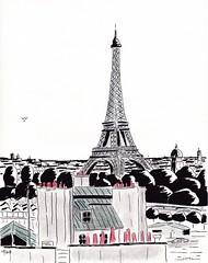 Tour Eiffel (J-M.I) Tags: aquarelle art house architecture haute watercolour dessin illustration graphisme artiste exposition pa paris tour eiffel