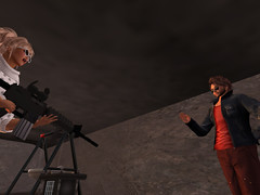 You can't stop me! (Rienda From Second LIfe) Tags: secondlife wild couple gun funny fight