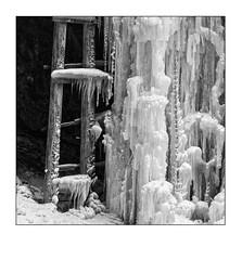 Winterwasser x5 (heute?) Tags: wasser ice blackandwhite water winter eis