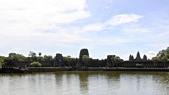 Angkor Wat (oxfordblues84) Tags: angkor angkorarcheologicalpark angkorwat architecture building temple hindutemple sky clouds cloudysky partlycloudy cambodia kingdomofcambodia siemreap oat overseasadventuretravel touristattraction water moat corncobtowers corncobtower khmerarchitecture unescoworldheritagesite unesco pond reflection reflections