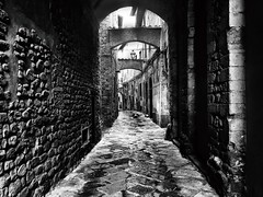 Tuscan charm in historical center -Pistoia (Eggii) Tags: italy tuscany pistoia bw blackand white