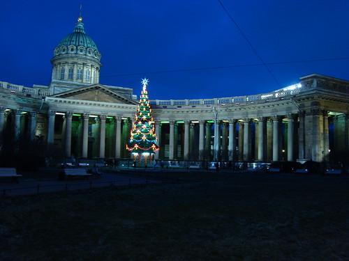 Казанский собор вечером ©  ayampolsky