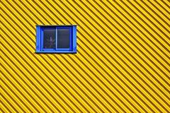 La fenêtre bleue (Isa-belle33) Tags: architecture urban urbain city ville wall mur window fenêtre colors couleurs yellow jaune bleu blue lines lignes geometry géométrie fujifilm minimalisme minimalism