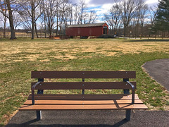 Loys Station Park (karma (Karen)) Tags: thurmont maryland frederickco parks loysstationpark coveredbridge historicbridge nrhp benches hbm iphone cmwd