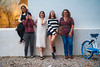 San Xi Stella Friends 15 (C & R Driver-Burgess) Tags: fashion women girls together laugh ledge edge window shop bicycle blue golden burgandy top white shift dress stripe jumber sweater black denim shorts jeans asian westerner 中国人 时装 窗户 妇女 自行车 外国人