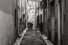 Alley (x1klima) Tags: laciotat provencealpescôtedazur frankreich fr achitectural architecture architektur building buildings emptiness einsamkeit pain schmerz leid qual qualen mühe aching ache grief trauer kummer gram hurt chastity reise travel voyage traveling voyages streetphotography streets streetview candid urbanity urban woman women frau frauen mann männer dog hund monochrome schwarzweis noiretblanc bw plain blackandwhite sonya7r3 a7riii ilce7rm3 sony sonyfe85mmf14gm sel85f14gm