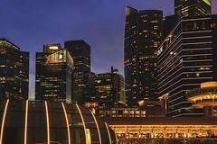 Singapore Blues (Jack Heald) Tags: singapore night bluehour lights city buildings heald jack travel tourist nikon d750 skyline architecture skyscraper