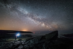 Counting The Stars (Graham Daly Photography (ASINWP)) Tags: canon6d countycork grahamdalyphotography ireland landscapephotography longexposure rockybay seascapes astro astronomyireland astrophotography beach landscapesofireland nightphotography nightshoot nightsky outdoors rolleitripod samyang14mm nikdefine2 starrylandscapestacker imageblend astroselfie selfie