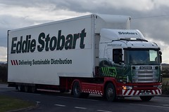 Stobart H006 W238 OSM Frankie A5 Rugby Truck Stop 15/3/18 (CraigPatrick24) Tags: eddiestobart stobartgroup stobart road vehicle transport truck lorry trailer delivery logistics cab rugby rugbytruckstop a5 scania scania114l380 frankie h006 stobartdoubledecker doubledecker w238osm