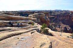 Sue & The Kids Taking A Rest On The Slickrock Trail (Joe Shlabotnik) Tags: proudparents nationalpark utah sue violet 2017 canyonlands everett november2017 canyonlandsnationalpark afsdxvrzoomnikkor18105mmf3556ged