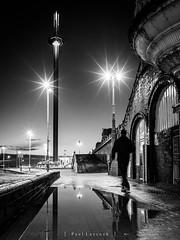 Toward the Tower (amipal) Tags: 175mm brighton city england gb greatbritain manuallens night reflections sussex uk unitedkingdom urban voigtlander water