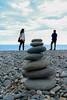 The Mountain Between Us (gracechanwenmin) Tags: beach ocean sea taiwan hualien pebbles