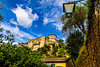 The castle (Elespics) Tags: portofino italy landscape village castle lampost