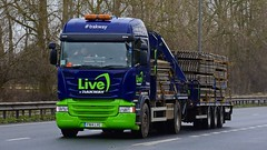 FN14 LVC (panmanstan) Tags: scania r410 wagon truck lorry commercial drawbar freight transport haulage vehicle a63 everthorpe yorkshire