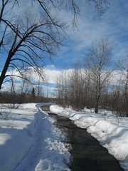 Calgary Bow River Pathways Spring (Mr. Happy Face - Peace :)) Tags: yyc calgary spring art2018 naturewalk hiking scenic weather snow river
