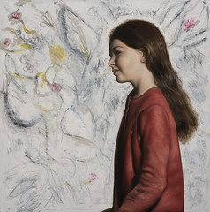 Le Jardin imaginaire (Francisco Benitez -Artist) Tags: oldmasters children realism figurative portraits people girl flowers botanical abstract