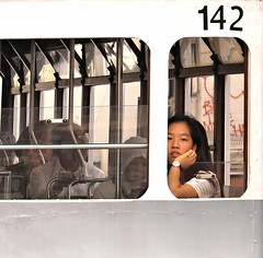 142 (poludziber1) Tags: street streetphotography summer city colorful cityscape color china travel traffic tram people hongkong white
