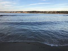 La Jolla Cove blue water beach (Explored) (Aqua and Coral Imagery) Tags: sunset twilight blue waves beach sand sandiego california cali