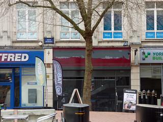Closed down Costa Coffee - 62 New Street, Birmingham