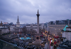 Trafalgar Square, London at Dusk