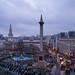 Trafalgar Square, London at Dusk