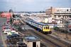 15/03/1983 - Barnsley, South Yorkshire. (53A Models) Tags: britishrail derbyheavyweight class114 dmu diesel passenger barnsley southyorkshire train railway locomotive railroad