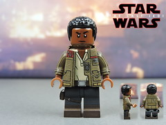 Custom LEGO Star Wars The Last Jedi: Finn (Will HR) Tags: lego custom starwars thelastjedi finn