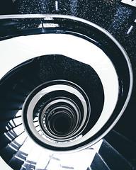 Spiral (atlashot) Tags: escaleras espiral barcelona spiral staircases worldneedsmorespiralstaircases black white contrast architecture arquitectura
