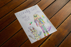 Candy Girl (Eddy Summers) Tags: art drawing crayons sweets candy paper topaz k1captures pentaxk1