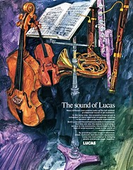 Lucas Advertisement (British Motor Industry Heritage Trust Archive) Tags: lucascollection lucas advertisement socialhistory vintage history theatre arts music